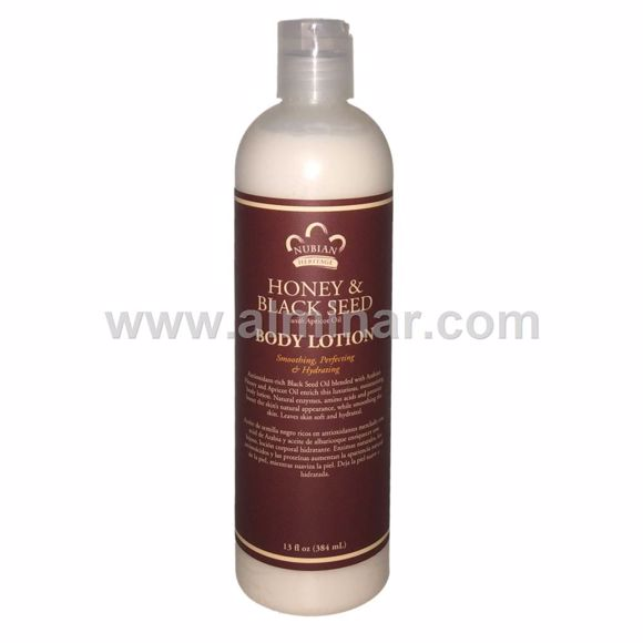 Picture of Nubian Heritage - Honey & Black Seed Body Lotion - 13 fl oz (384 ml)