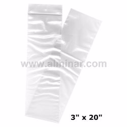 """Picture of 3"""" x 20"""" Zip Lock Bags (1000 Pcs) - Clear - 2 MIL Thickness"""
