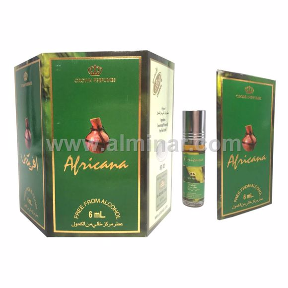 Picture of Box of 6 - Africana Attar 6ml Rollon Bottle By Al-Rehab (UAE)