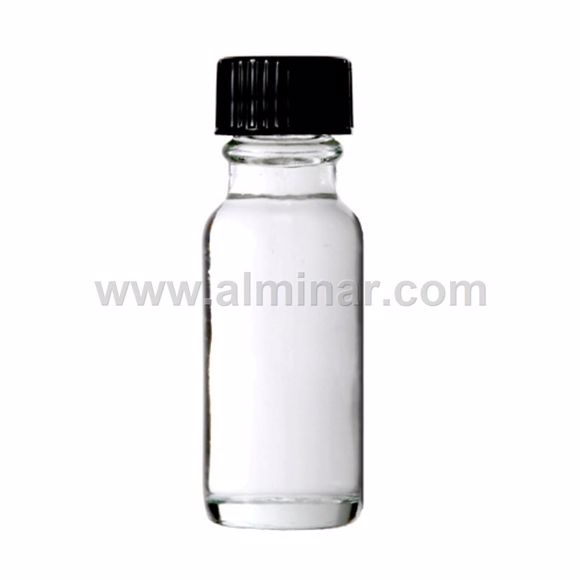 Picture of Boston Round 1/2 oz Clear Glass Bottles With Poly Cone Lined Black Caps