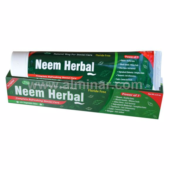 Picture of Neem Herbal Toothpaste w/ Xylitol 7 in 1 [100% Fluoride Free] [Halal] [6.5 oz]