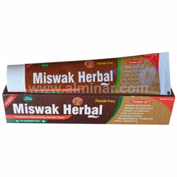 Picture of Miswak Herbal Toothpaste w/ Xylitol 7 in 1 [100% Fluoride Free] [Halal] [6.5 oz]