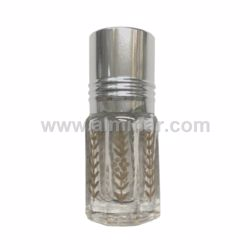 Picture of 3ml to 24ml Clear Octogonal Bottles [Golden Print] [Applicator Stick]