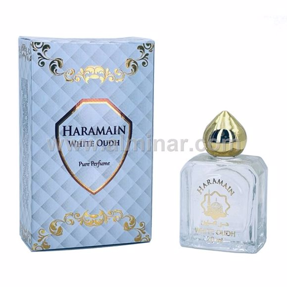 Picture of Haramain White Oudh- Pure perfume - 20 ml with Rollon - By Haramain